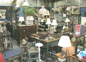 Welcome to Happy Returns! Our antique shop has many items - here is a view of some of them.
